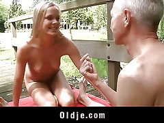 Monica Thu is blonde, youthfull and nosey and he is an oldman with experience..