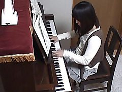 The ultra-cute young teenager only came to practice her piano skills, and to..