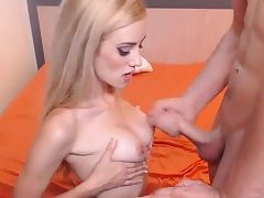 Blond get buttfuck hook-up front the cam