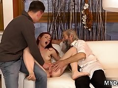 Elderly dude sadism & masochism very first time his father came closer to her..