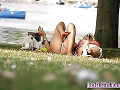 First-timer Torrid Swimsuit teens Spy Covert cam Covert Webcam In The Park