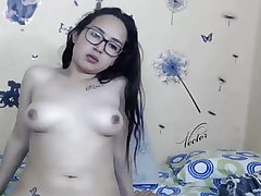 Girl with Glasses demonstrates Tits