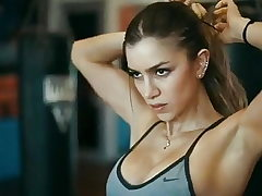 Anllela Sagra. Covert strong, muscled and panicking mitts
